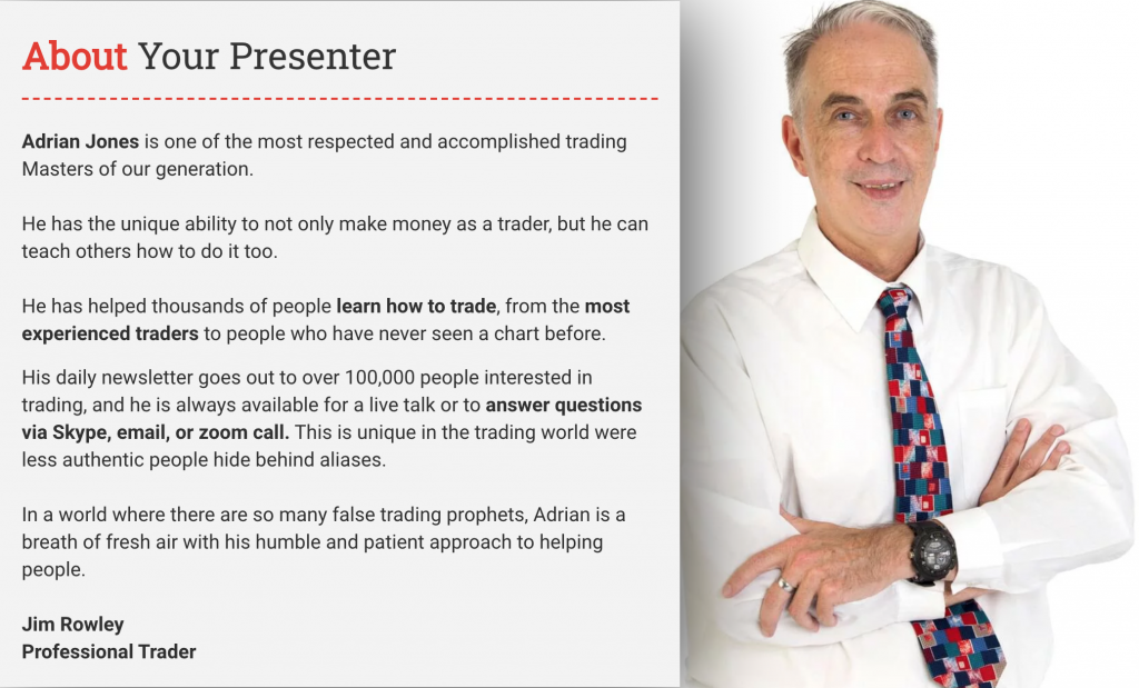 Adrian Jones, Lead Trader and CEO of Tradeology